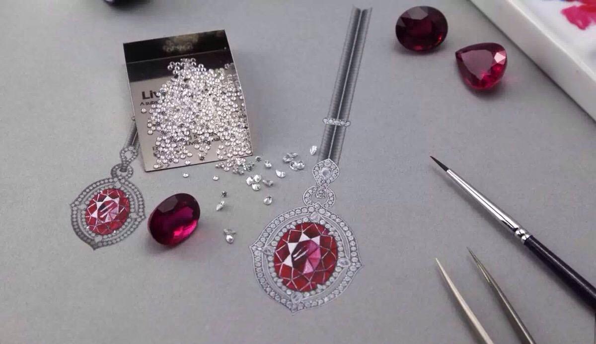 珠宝手绘,鉴定免费体验课程在此,速度约!图片